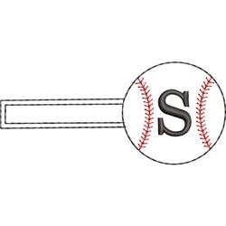 Baseball Key Fob S embroidery design