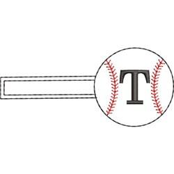 Baseball Key Fob T embroidery design