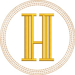 ITH H Coaster embroidery design