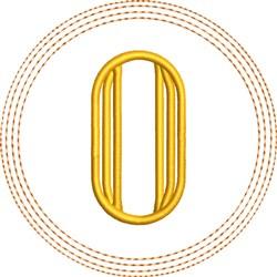 ITH O Coaster embroidery design