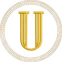 ITH U Coaster embroidery design