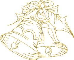 Stipple Jingle Bells embroidery design