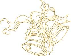 Christmas Stipple Jingle Bells embroidery design
