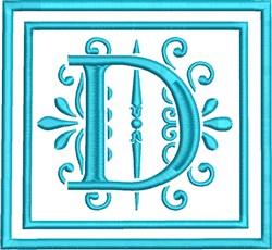 D Monogram embroidery design