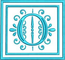 O Monogram embroidery design
