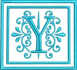 Y Monogram embroidery design