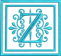 Z Monogram embroidery design