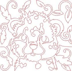 Quilt Block Leopaard embroidery design