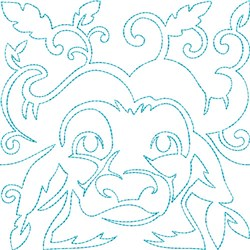 Quilt Block Water Buffalo embroidery design