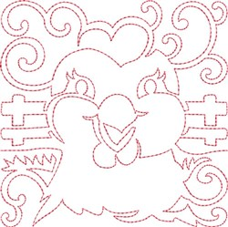 Chicken Quilt Block embroidery design