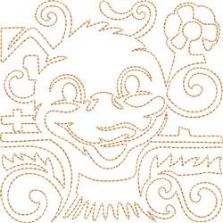 Duck Quilt Block embroidery design