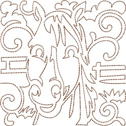 Horse Quilt Block embroidery design