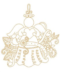 Love Angel Quilt Block embroidery design