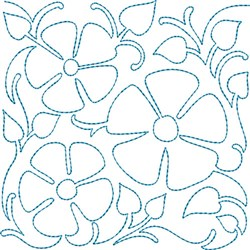 Quilt Block Flowers embroidery design