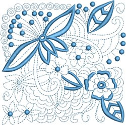 Quilt Florals embroidery design