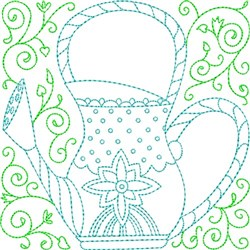 Water Can Quilt Block embroidery design