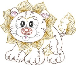 Lion Outline embroidery design