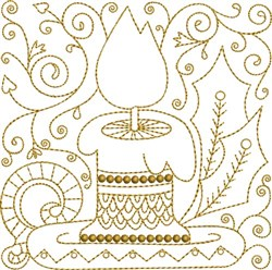 Candle Quilt Block embroidery design