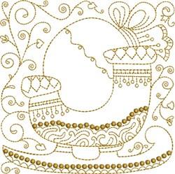 Sleigh Quilt Block embroidery design