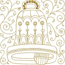 Bell Quilt Block embroidery design