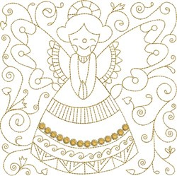 Angel Quilt Block embroidery design
