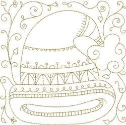 Santa Hat Quilt Block embroidery design