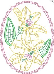Easter Flower embroidery design
