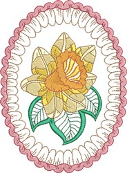 Daffodil Egg embroidery design