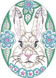 Easter Rabbit Egg embroidery design