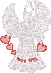 FSL Navy Wife Angel embroidery design