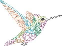 Hummingbird Flying embroidery design