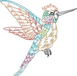 Outline Hummingbird embroidery design
