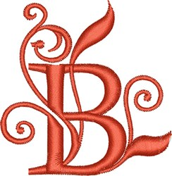 Elegant Monogram Font B embroidery design