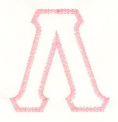 Greek Lambda Applique embroidery design