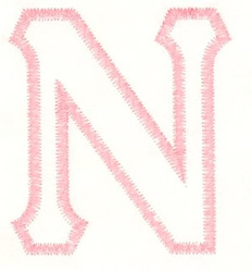 Greek Nu Applique embroidery design