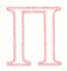 Greek Pi Applique embroidery design