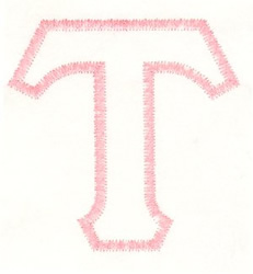 Greek Tau Applique embroidery design