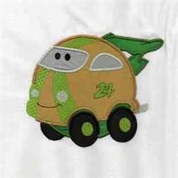 Chubby Racecar embroidery design