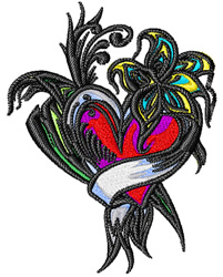 Flowers Tattoo embroidery design