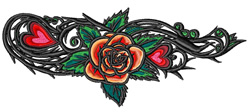 Rose Tattoo embroidery design