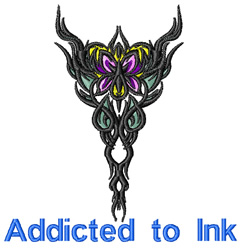 Addicted to Ink embroidery design