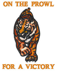 Victory Tiger embroidery design