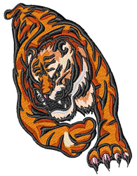 Crouching Tiger embroidery design