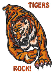 Tigers Rock embroidery design
