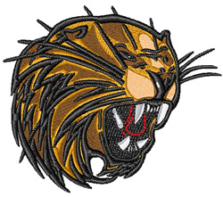 Bobcat Head embroidery design