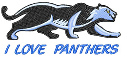 Love the Panthers embroidery design