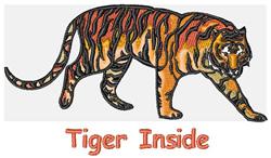 Tiger Inside embroidery design