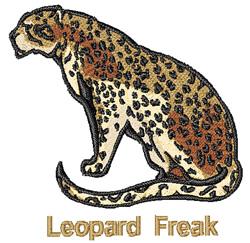 Leopard Freak embroidery design