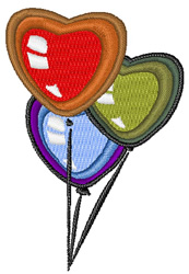 Birthday Heart Balloons embroidery design