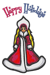 Happy Holidays embroidery design